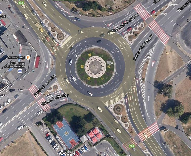 intersectia Calea Bucuresti - Saturn - Poienelor