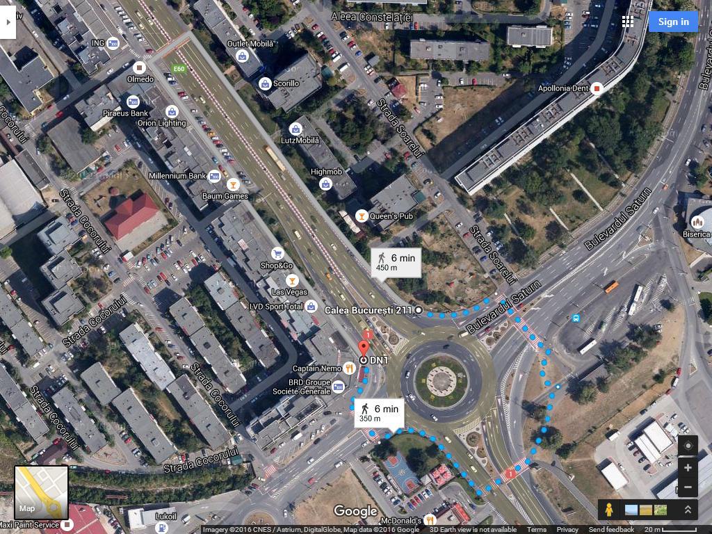 intersectie Calea Bucuresti Saturn Poienelor 1