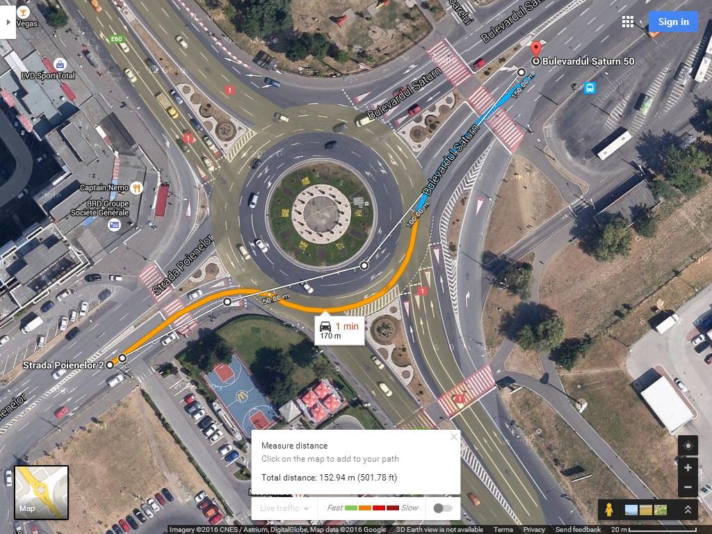 intersectie Calea Bucuresti Saturn Poienelor 3