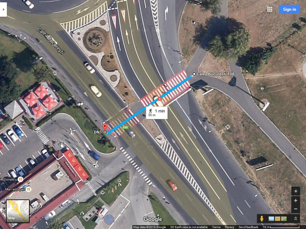 intersectie Calea Bucuresti Saturn Poienelor 7